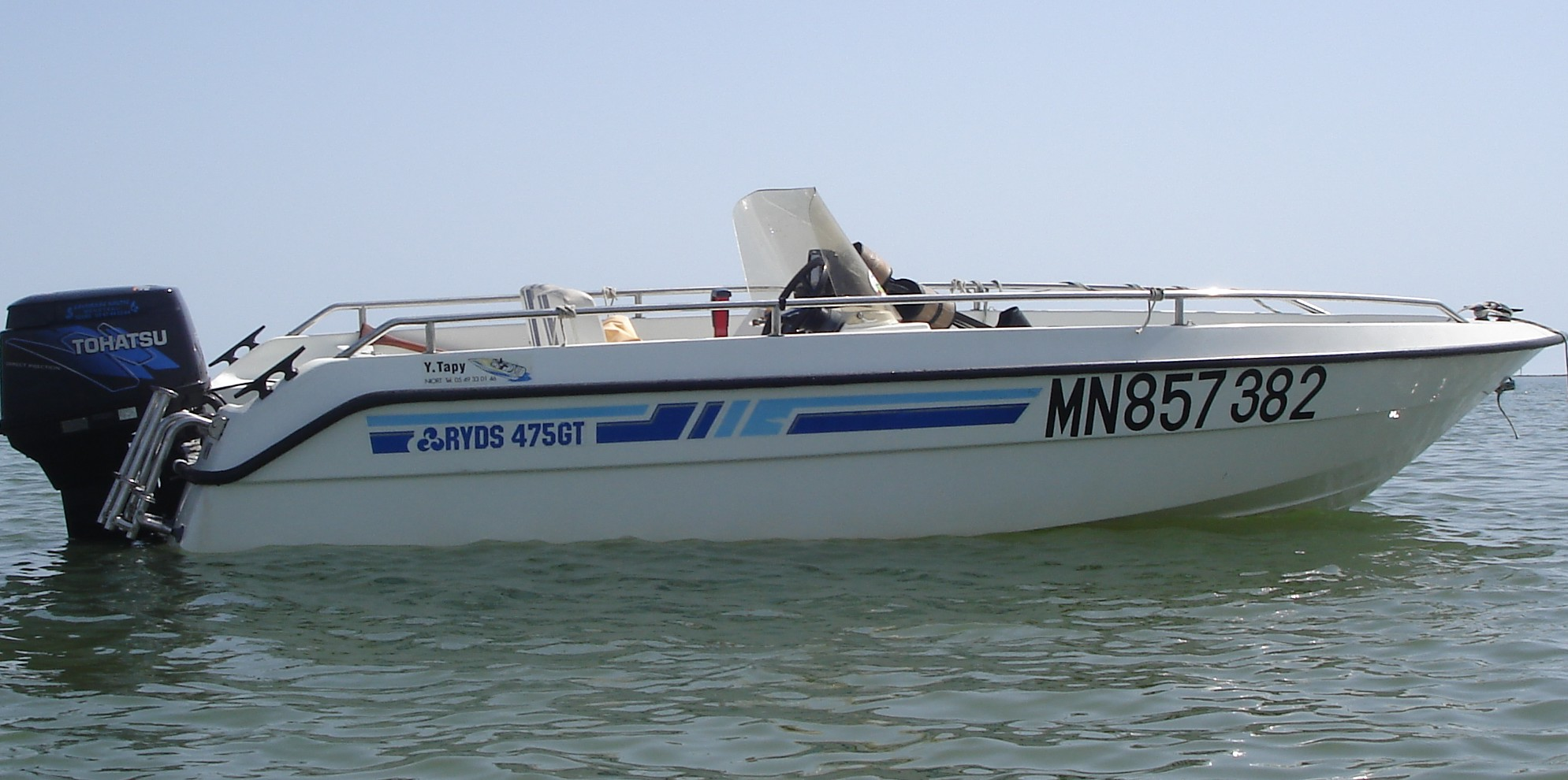 bateau open ryds 475 gt  moteur 50 cv tohatsu 2006