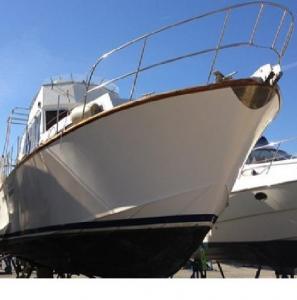 Yacht/Vedette (15m) chic Souther & Sons, en teck (bois)