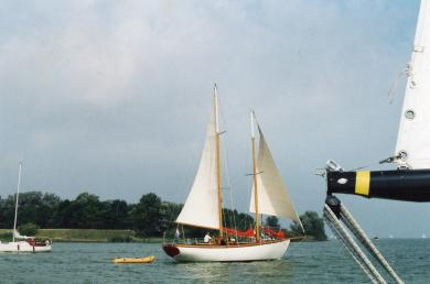 goelet voilier bois epoxy 12.50 metres à vendre